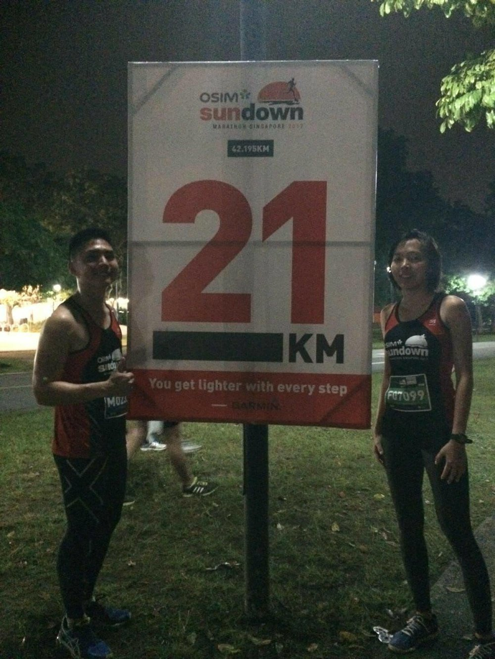 The banner says it. We were at 21KM (end of comfort zone).