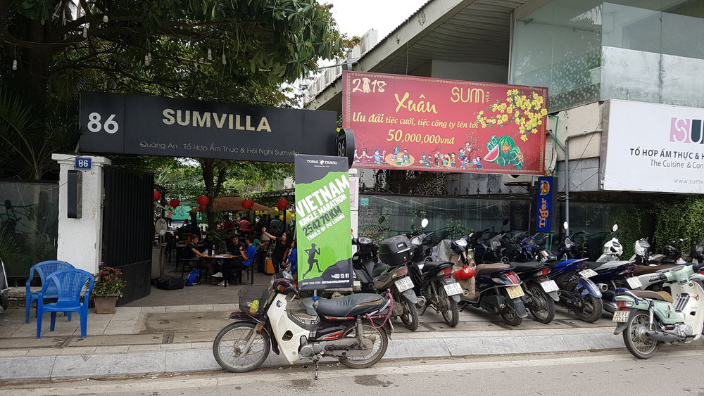 Sumvilla, the venue for race pack collection.