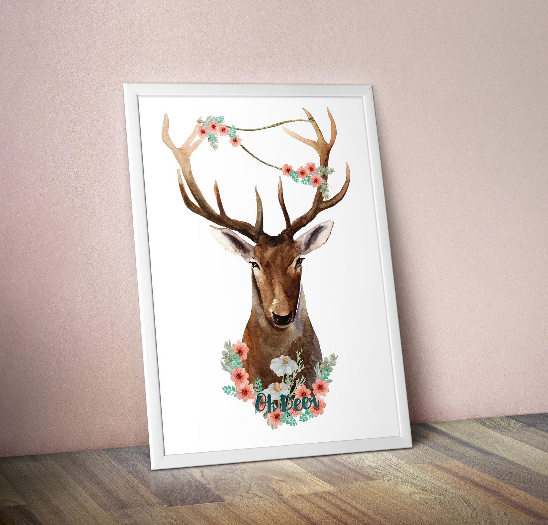 my tsuki u0027oh deer u0027 poster digital downloadstationery