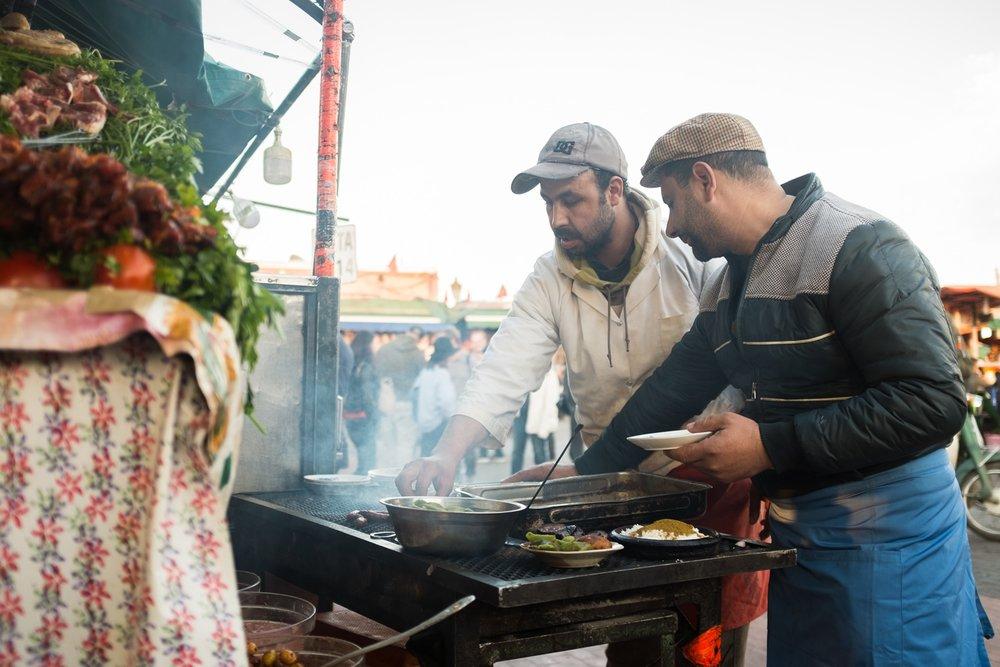 28. Chef de cuisine at Jemaa el Fna