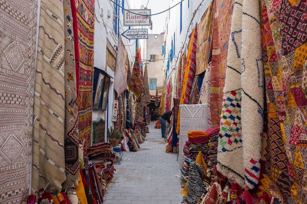 Carpet sellers of Essaouira