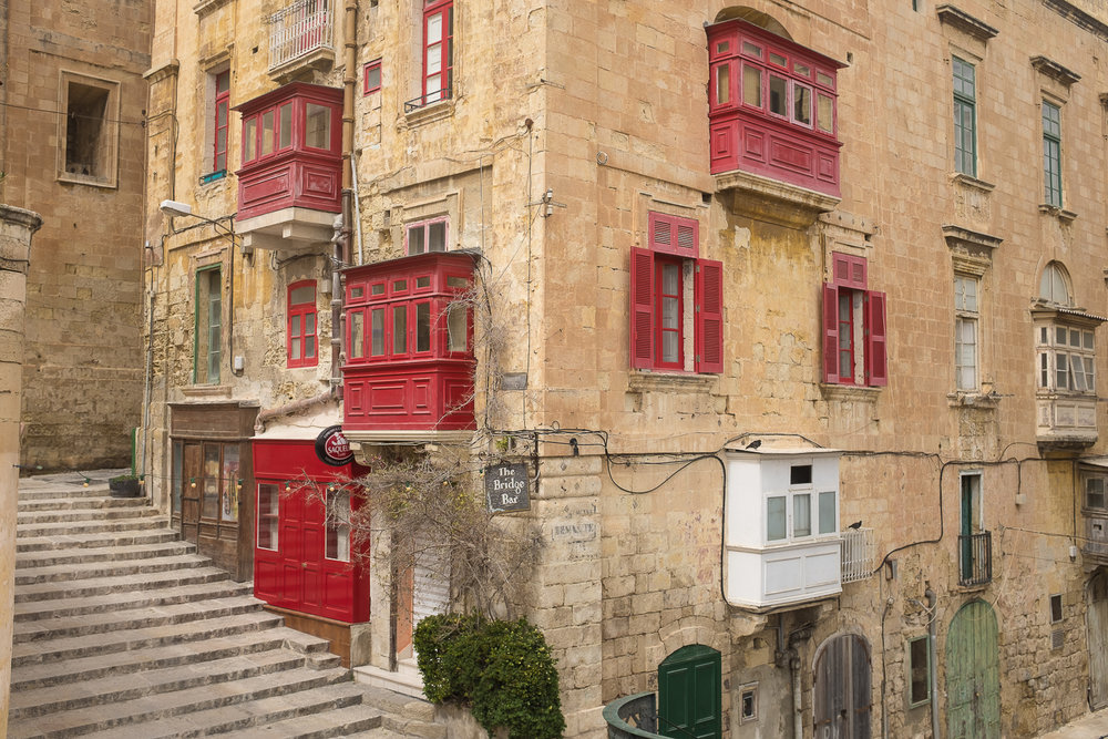 Valletta's colourful windows