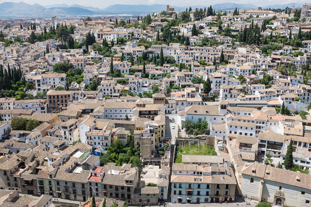 View of Granada from The Alcazaba