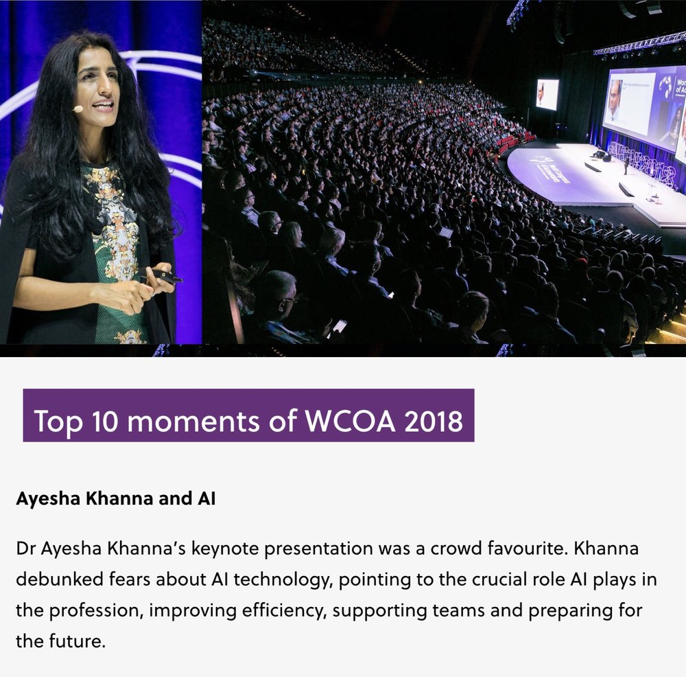 Ayesha Khanna - WCOA