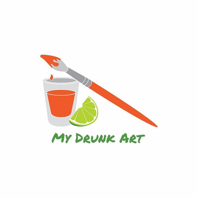 My Drunk Art is an ongoing community art project where people submit art created while intoxicated. It felt appropriate that this logo was visualized over a bottle of rosé.