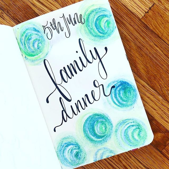 Accidentally used rotten veggie broth and poisoned the whole family 😟 . . . #disaster #family #dinner #handlettering #journal #watercolour