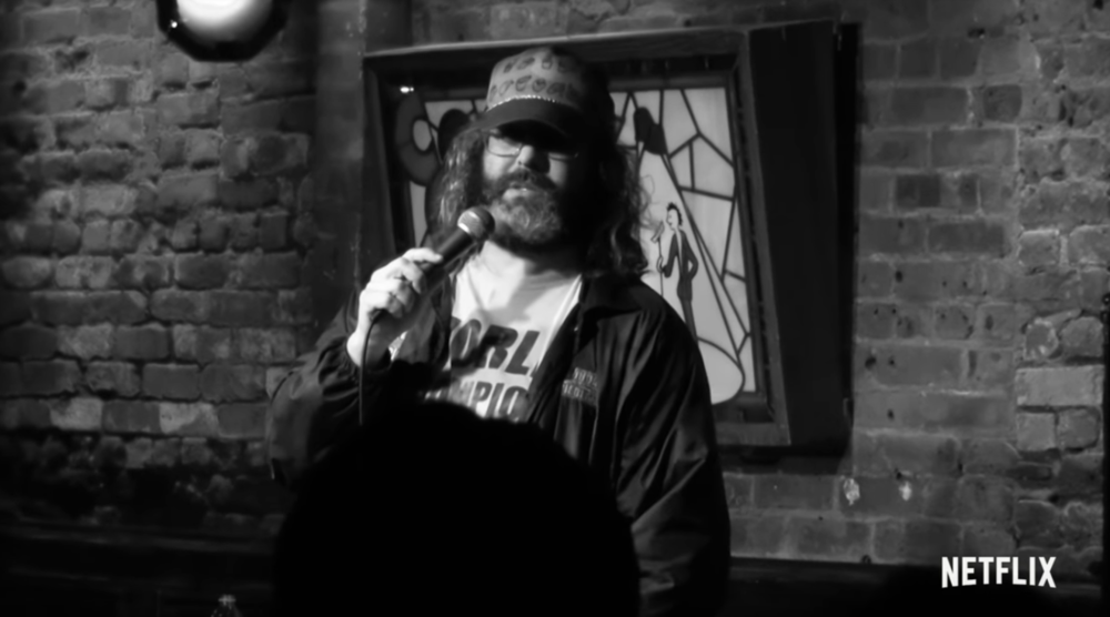 Screenshot of Judah Friedlander from his Netflix special.