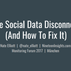 Social Data Disconnect title slide