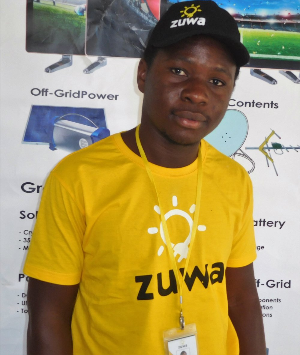"""George Phiri - """"I am a part time DJ and full time Zuwa Energy agent in Lilongwe. I became a Zuwa agent because I love marketing and just love what Zuwa stands for and what it is all about. Not only are Zuwa products reliable and durable, they have a flexible payment plan that make them affordable as well!"""""""