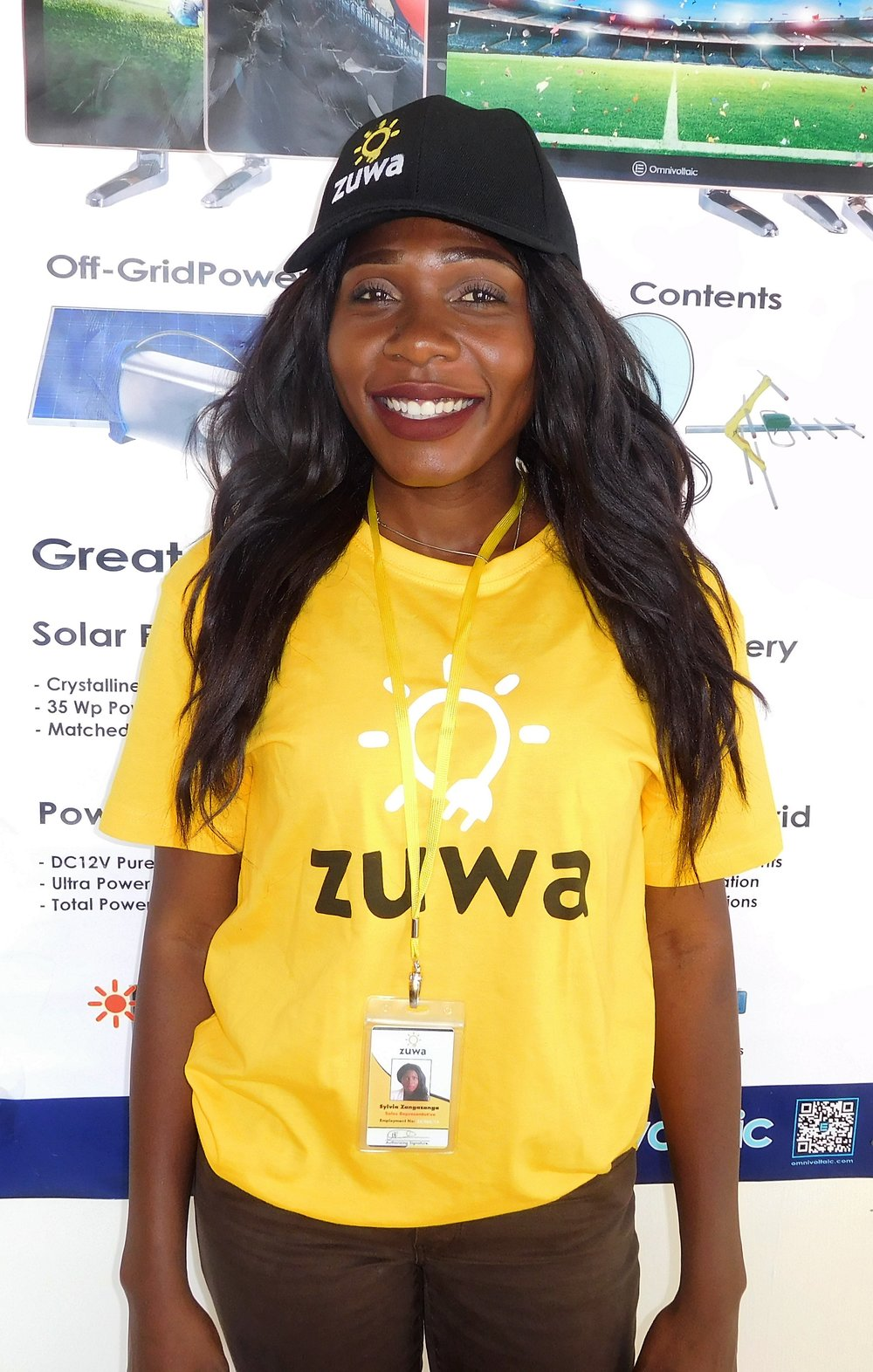"""Sylvia Zangazanga - """"I am a business lady who deals in sewing and selling of baby bedding in Lilongwe. I joined Zuwa Energy as a sales representative and instantly knew I had to become an agent as well. I have always had a negative attitude about solar electricity but Zuwa Energy changed my perspective. It offers reliable solar electricity and I look at becoming its agent as me being part of distributing greatness to the world!"""""""
