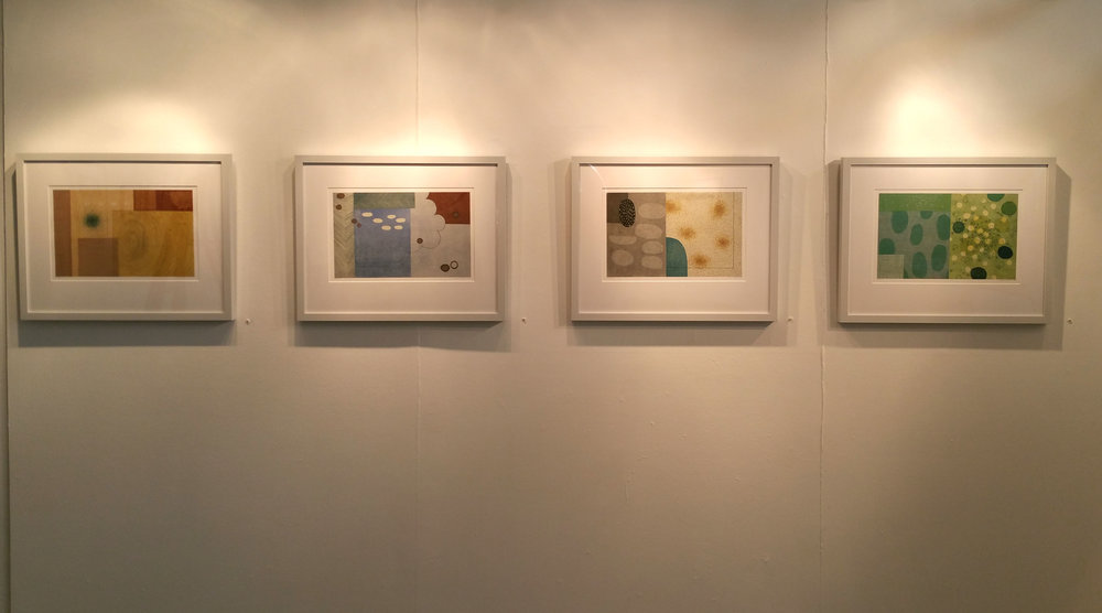 Exhibition shot of Sarah Smelser's trace monotypes.