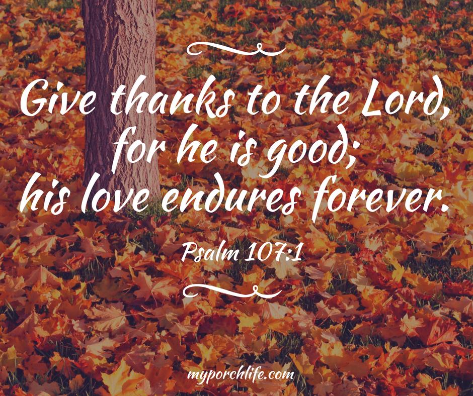 Psalm 107: 1