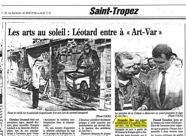 Saint tropez, 1987, Var Matin