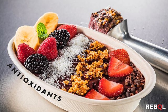 NEW AÇAÍ bols!  Açaí berries are one of the most nutritious berries on the planet.  The fruit has been praised for its healing, immune-stimulating, and energy-boosting properties!  We've also loaded our new Bol up with coconut, fresh fruit, cacao, and granola for added healthy fats, antioxidants, and fiber! Stop in and grab one! #Rebol