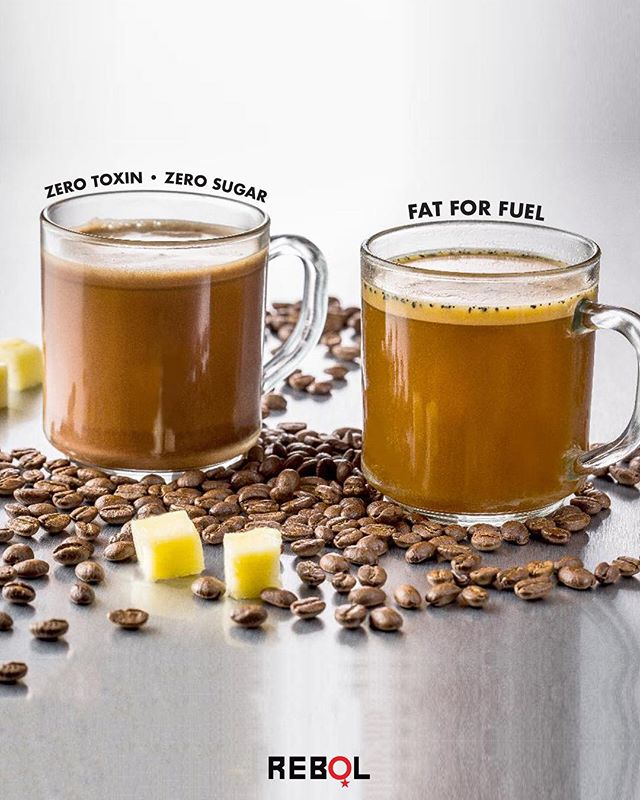CONTEST ALERT! Show Monday who's boss with a Bulletproof coffee!  The perfect blend of zero-toxin + organic coffee, grass-fed butter, @Bulletproof Brain Octane! Healthy fats will keep your brain firing at the highest level without any jitters.  Improve your mood, focus, and energy ☕️ Follow us and tag 3 friends in the comments below for a chance to win a week of Bulletproof on us! #Rebol (winner will be announced Wednesday at 3 pm!)