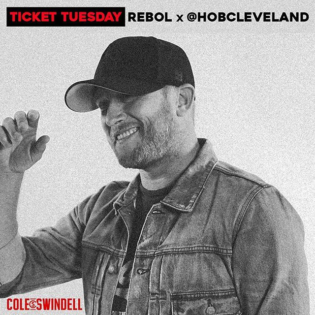 Ticket Tuesday! We've partnered with our friends at @HobCleveland to give away a pair of tickets to the @coleswindell show on 8/22 How to win: 1. Follow us and @HOBCleveland 2. Tag 3 friends in the comments section of this post. Winners will be announced on Friday at 5 pm! #Rebol