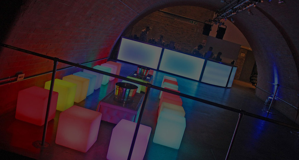 LED Seating Cube - Illuminated seating cubes are a practical, easy solution and provide an  excellent focal point for your event. They can also be illuminated in a  range of colours for a huge impact. They are for both indoor or outdoor  use, arrive charged up and once turned on, they will stay illuminated  for 8 hours.get in touch