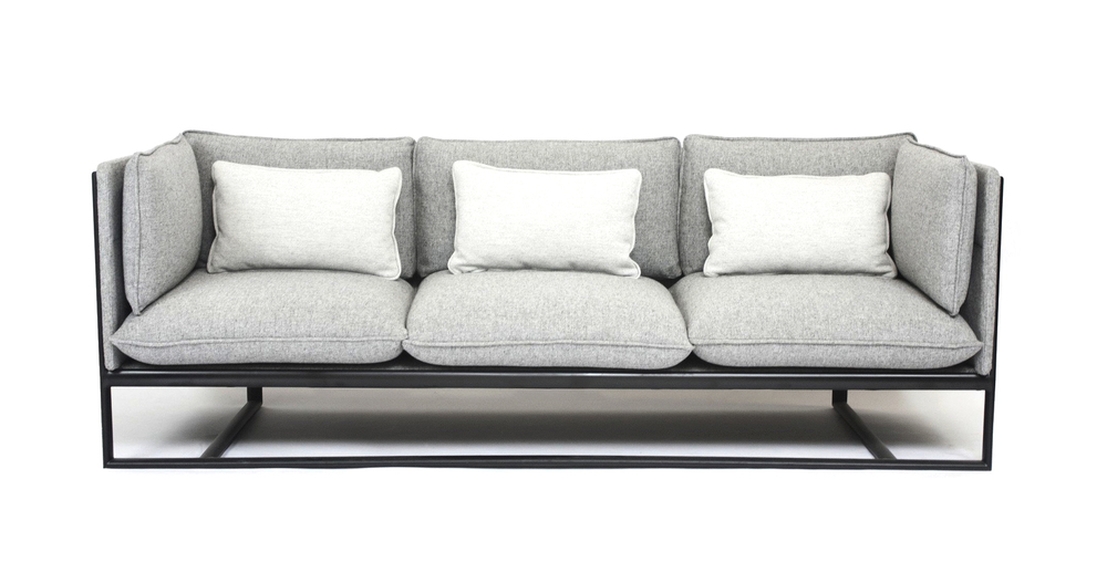 Contract And Residential Sofa Collection And Lounge Chair Defined By A Slim  Metal Frame That Supports The Upholstered Shell And Cushions.