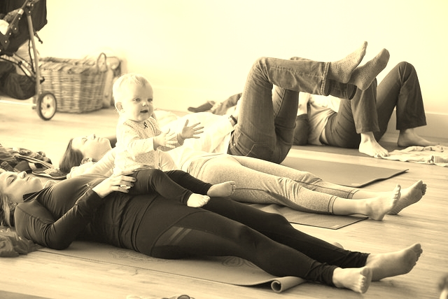 mom and baby yoga mom burnout