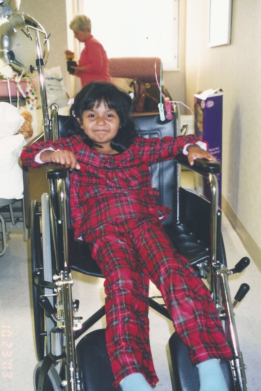 Anna wheelchair at SHMC 2003.JPG