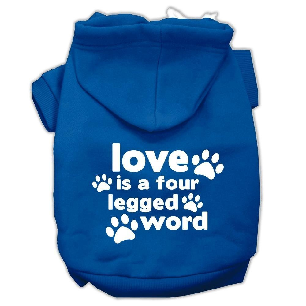"""Mirage Pet Products 12"""" Love is a Four Leg Word Screen Print Pet Hoodie.  SHOP NOW"""