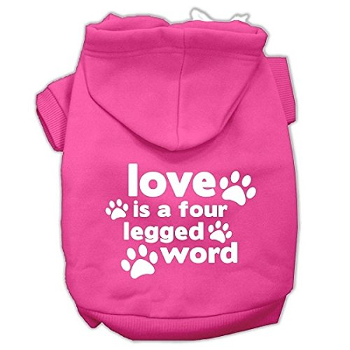 """Mirage Pet Products 12"""" Love is a Four Leg Word Screen Print Pet Hoodie.   GO SHOP"""