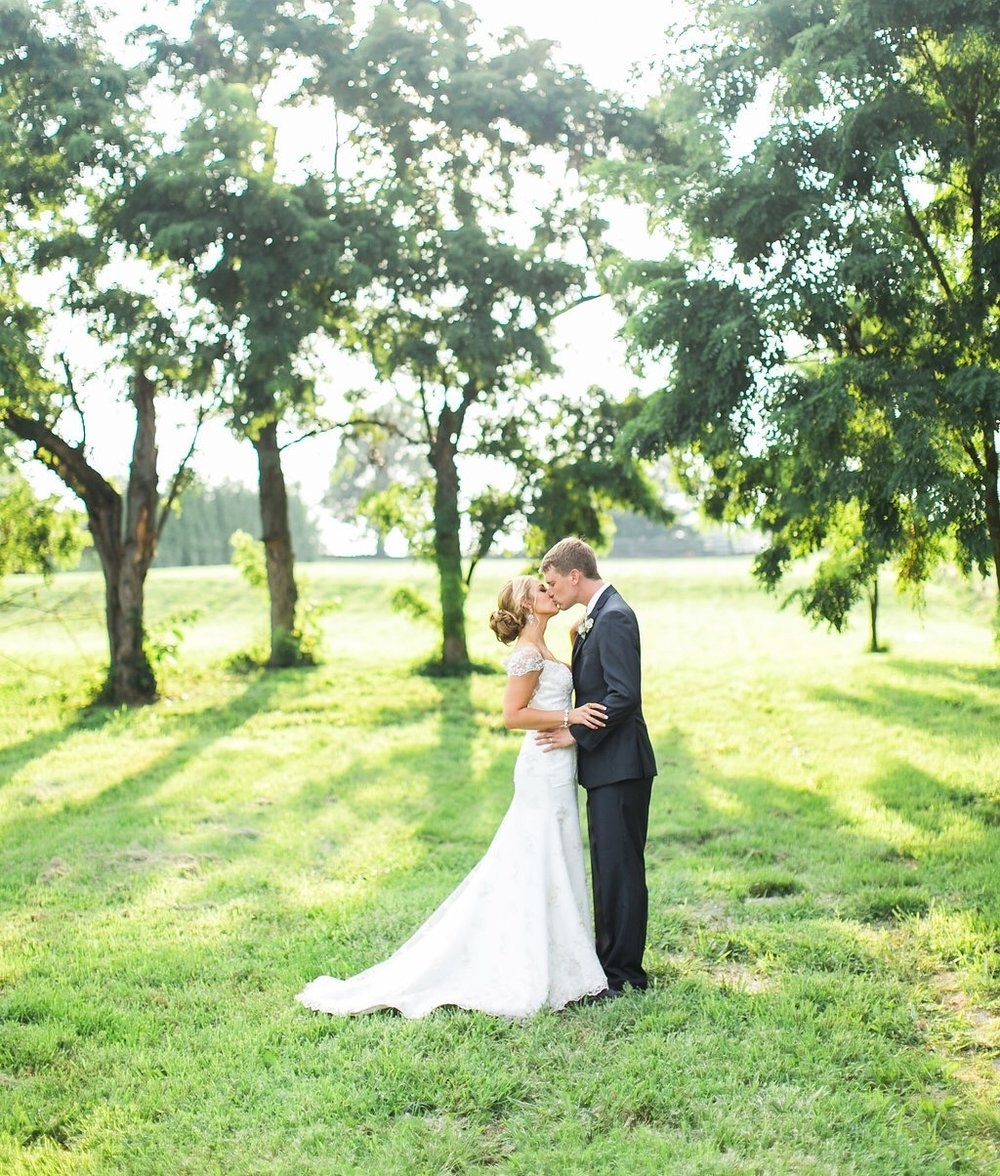 Our bride and groom pictures on the farm! Thank you Rachael McCall!!