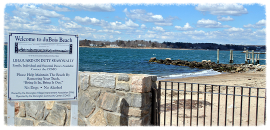 duBois Beach is located in the Stonington Borough on Stonington Point.