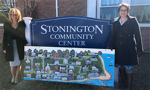 Savings Institute Bank & Trust Donates Stonington Painting to Stonington Community Center