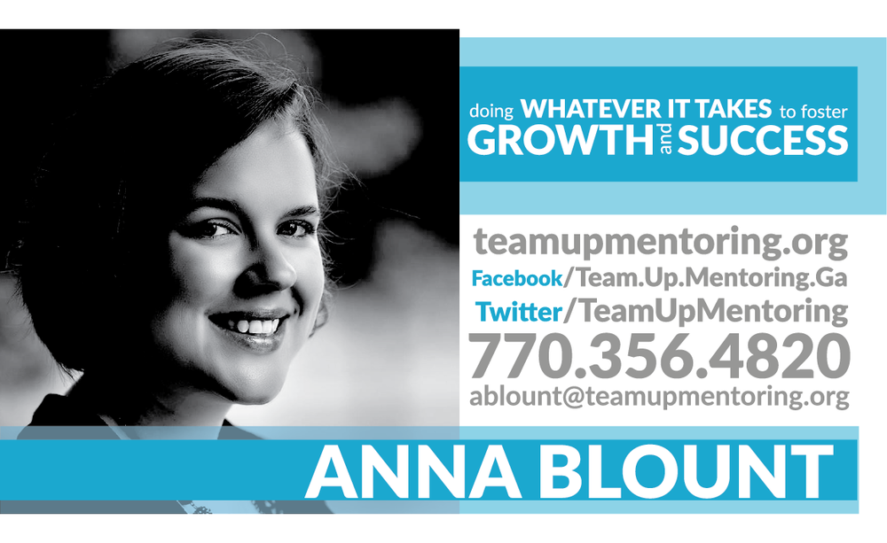 - anna blountFounder and CEO(770)-356-4820ablount@teamupmentoring.org