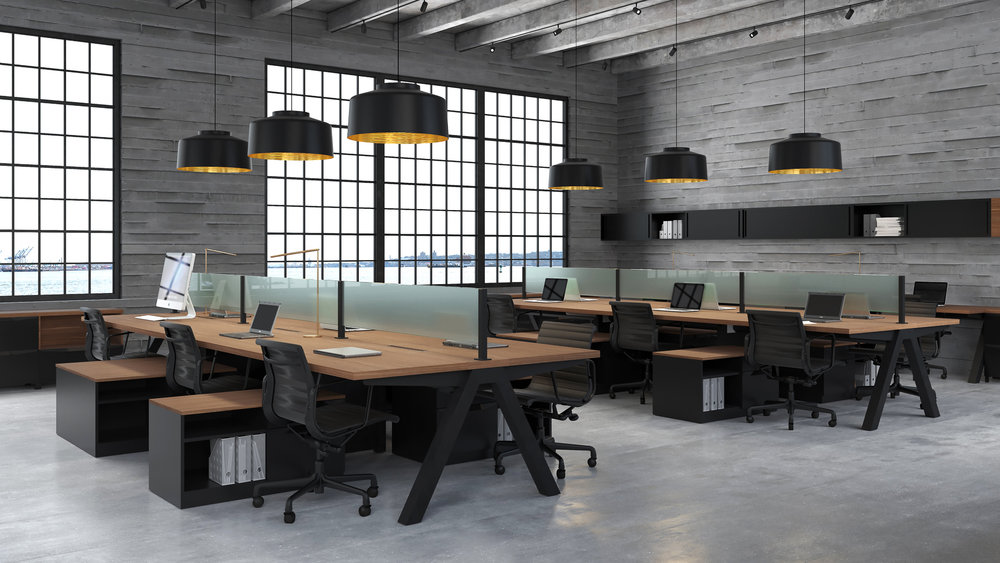 Desk benching uhuru contract for Total office design 50 contemporary workplaces