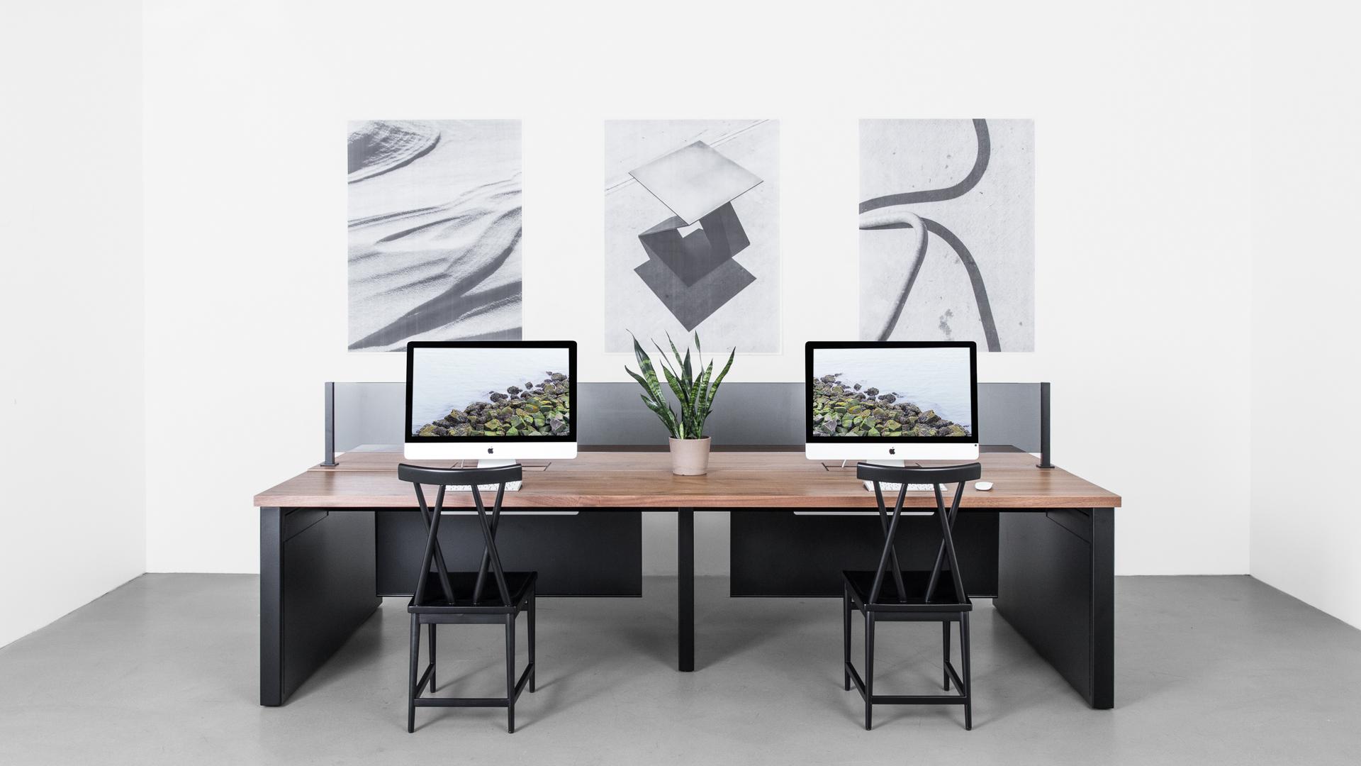 Furniture desk benching