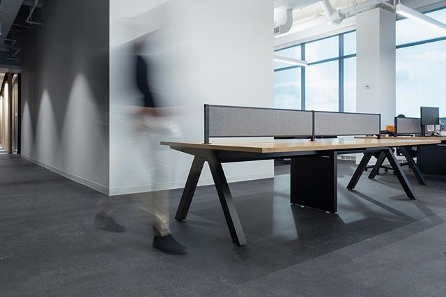 Nice Legs. MINIM Office benching system in natural oak and black.⠀ ⠀ ⠀ ______________________________________________⠀ ⠀ #workplace #workplacedesign #interiordesign #office #officelife #desk #bench #modern #minimal #contractfurniture #newamericandesign