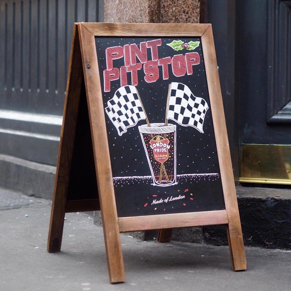 Guy Larsen - Pint Pit Stop - London Pride