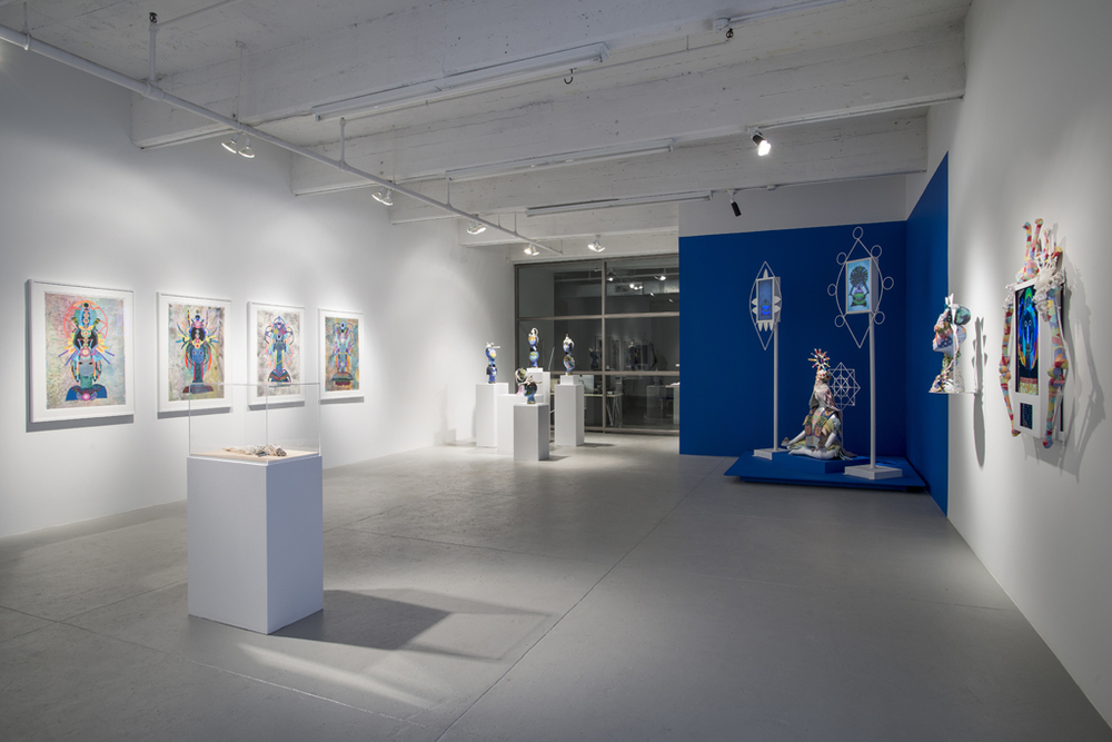 ChimaTEK: Hybridization Visualization System  Installation view Leslie Tonkonow Artworks + Projects 2015
