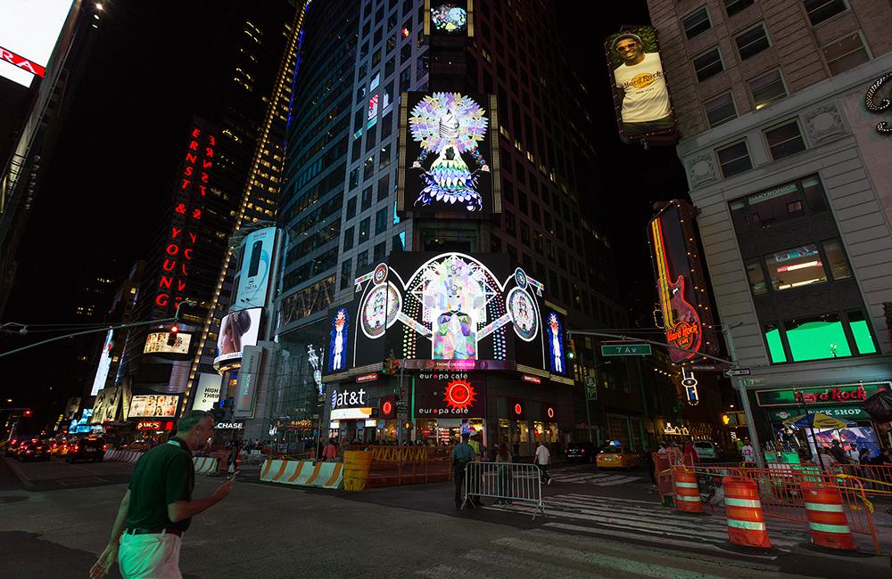 ChimaCloud Midnight Moment  Midnight Moment Time Square Photo Credit: Ka-Man Tse for @ TSqArts 2016