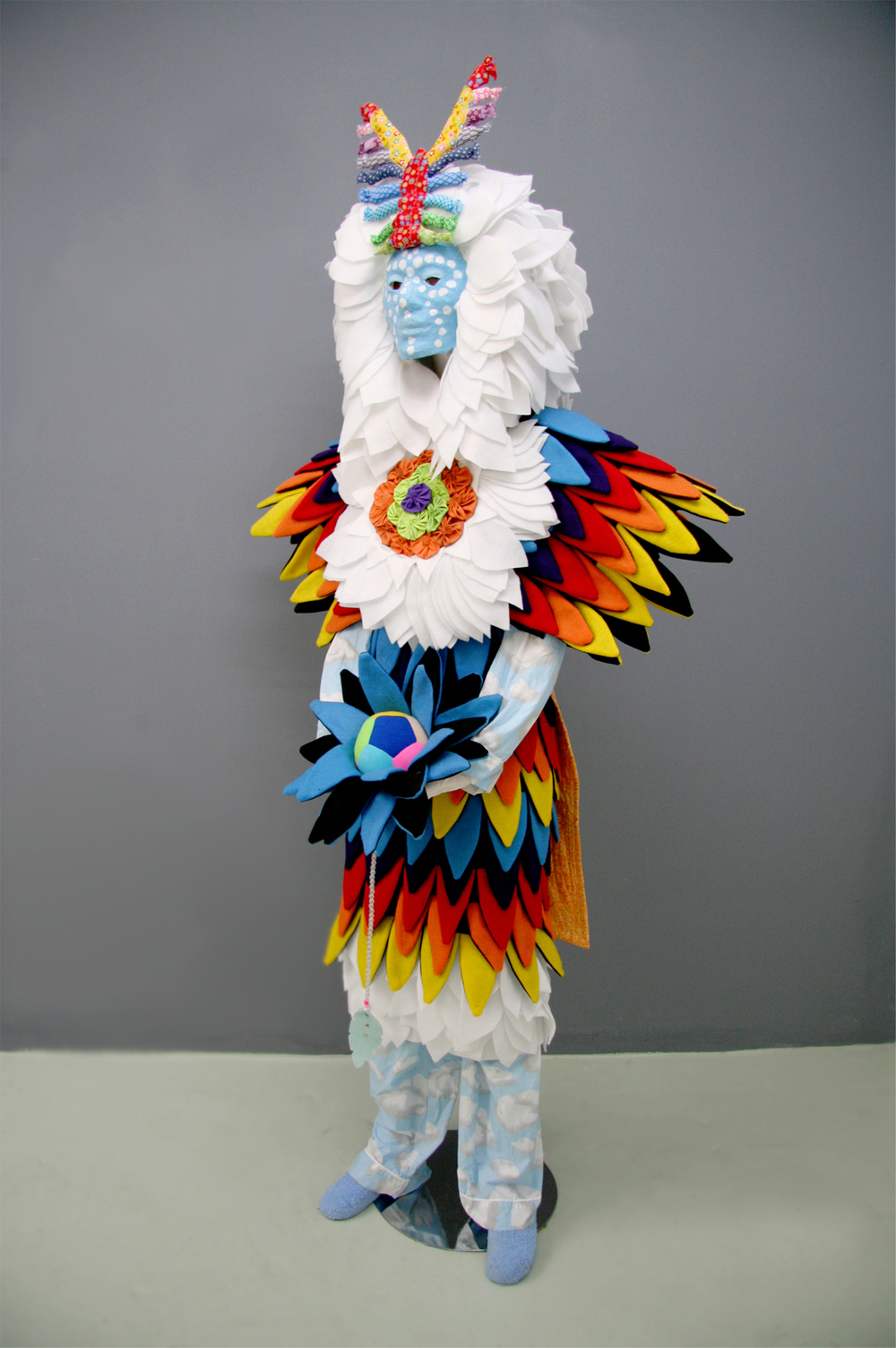 "An Empathic Beauty (Mie)  Fabric, paper mache, mannequin 65"" x 36"" x 24""  2012"