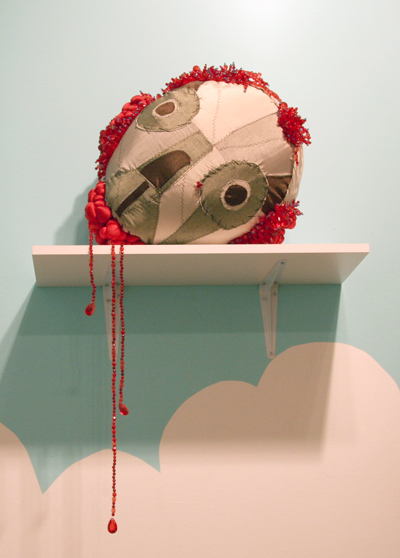 Skull with Blood Diamonds  Sculpture 2007
