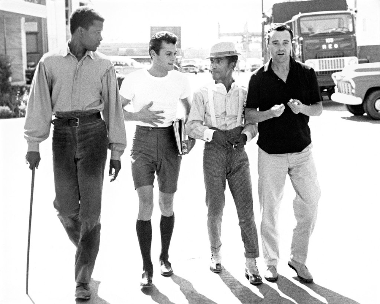 Harry Belafonte, Tony Curtis, Sammy Davis Jr., and Jack Lemmon, by Phil Stern