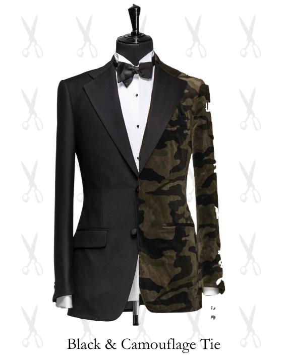 Black & Camouflage Tie