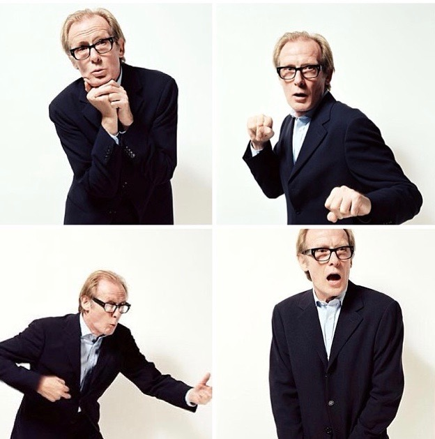 (Bill Nighy in een tropical blazer)