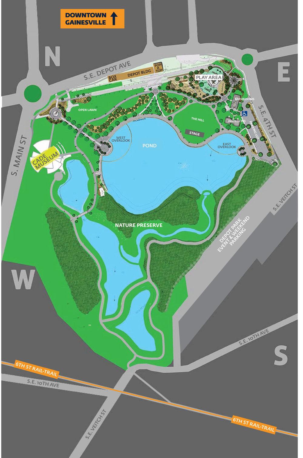 Map of Depot Park Depot Park