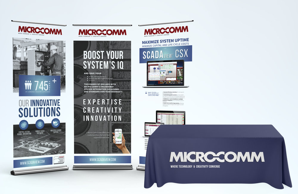 GRAPHIC DESIGN FOR TRADESHOW DISPLAY - Micro-Comm, Inc.