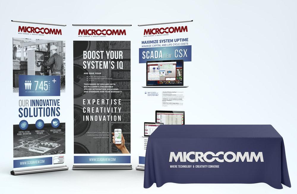 GRAPHIC DESIGN FOR TRADESHOW DISPLAY - Micro-Comm, Inc.