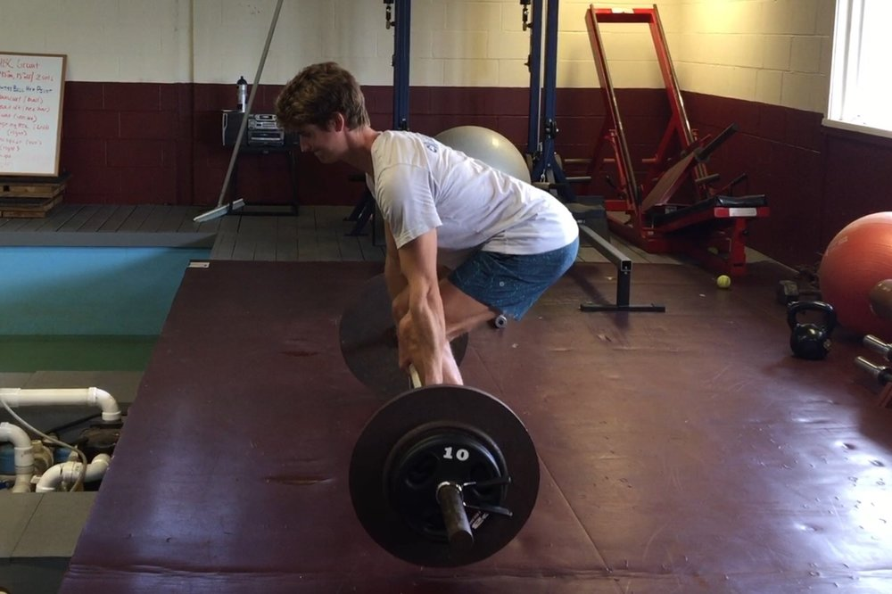 Rowfficient Athlete Andrew Campbell training the Deadlift