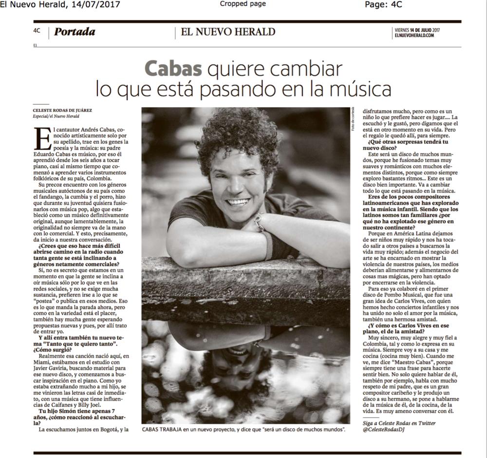 El Nuevo Herald 14 de Julio