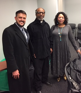Rev. Killings with The Rev. Dr. Jerrolyn Eulinberg from the Samuel Proctor Institute and Brent Adams, Senior Vice President of Policy & Communication from the Woodstock Institute