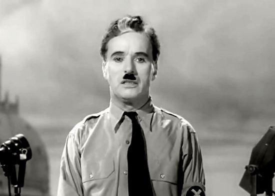 Chaplin speaks.