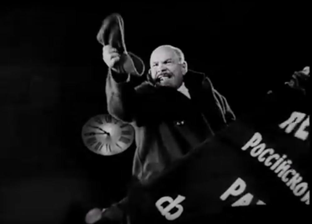 The film's version of Lenin, played by Vasili Nikandrov