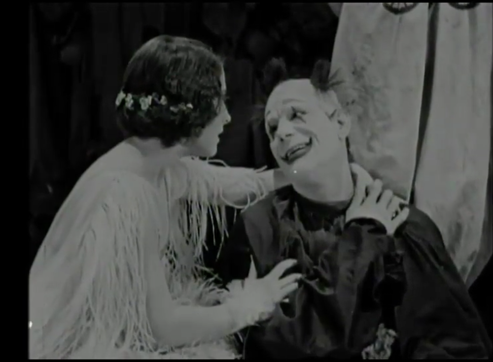 Lon Cheney and Norma Shearer in 'He Who Gets Slapped'